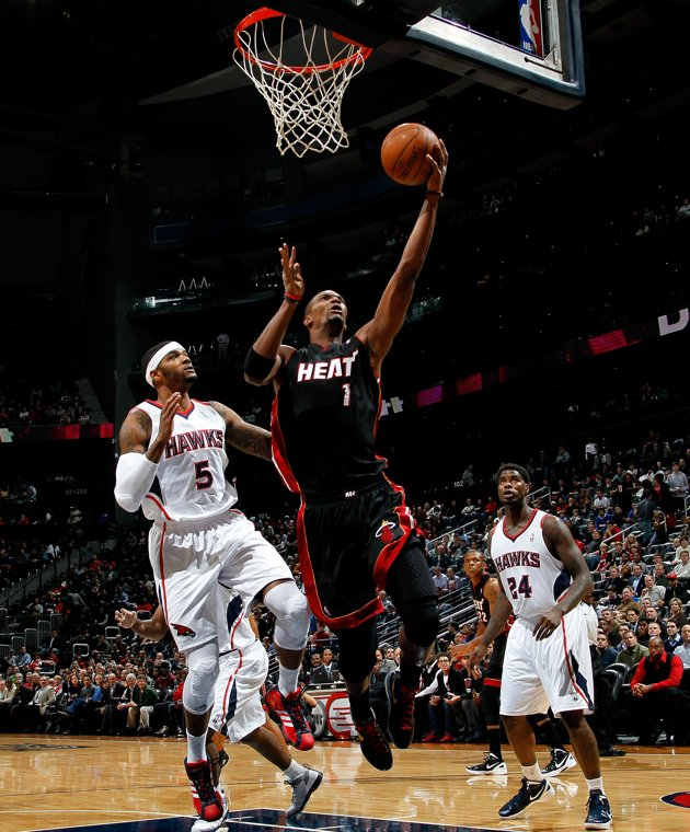 Kevin C. Cox/Getty Images, Chris Bosh grabbed a season-high 16 rebounds in Sunday's victory over the Hawks