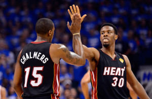 "Getty Images, ""Cut to this season, and both Chalmers and Cole appear to be much-improved players who are in the process of putting to an end the conversation about the Heat's need for a true lead guard that persisted during the last two seasons."""