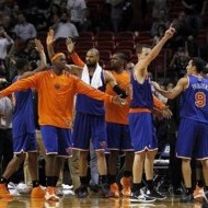 knicks celebrating
