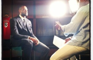 LeBron James' interview with Ahmad Rashad.