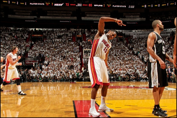 Mario Chalmers of the Miami Heat Game 2 Finals