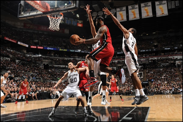 LeBron James vs. the San Antonio Spurs