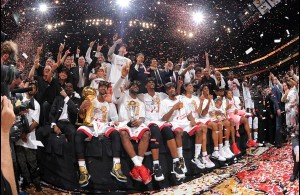 MIami Heat wins their second championship against the San Antonio Spurs.