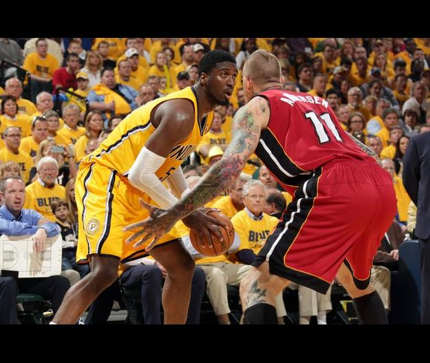 Chris Andersen guarding Roy Hibbert brought to you by Heat Nation