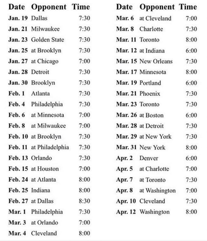 Miami Heat Regular Season Schedule for 2016-2017