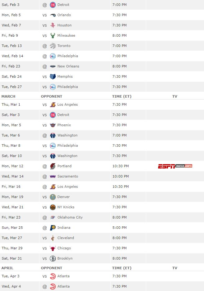 Terrible image pertaining to miami heat printable schedule