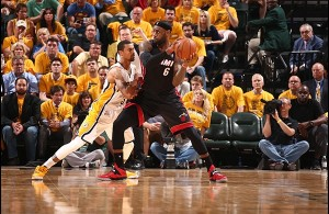 "Heat Nation Video: All Five of LBJ's ""Fouls"" Against the Pacers"