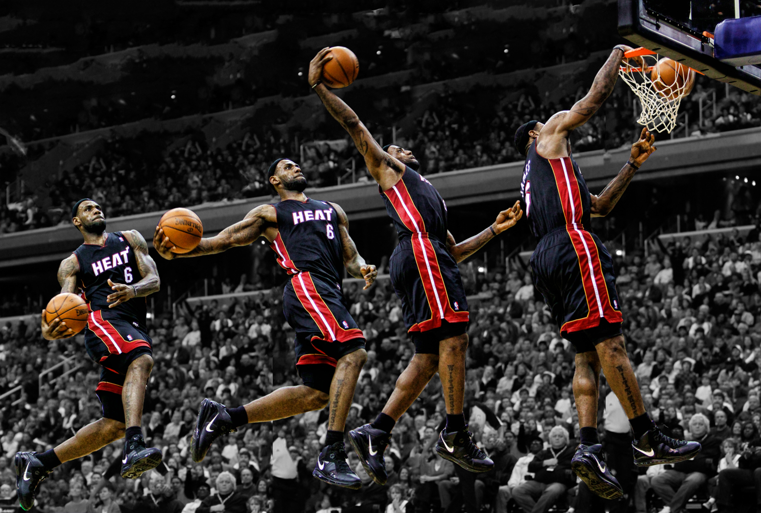 Heat Nation Videos: All 141 LeBron James Dunks from 2013-2014