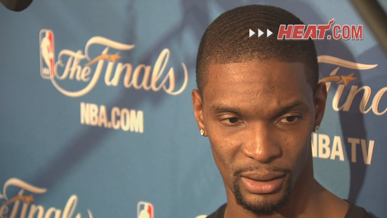 Miami Heat News: Chris Bosh Talks to the Media After Game 4