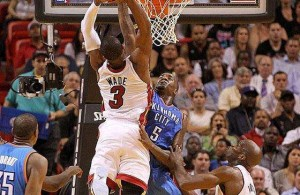 Flashback Friday: Wade Posterizes Kendrick Perkins