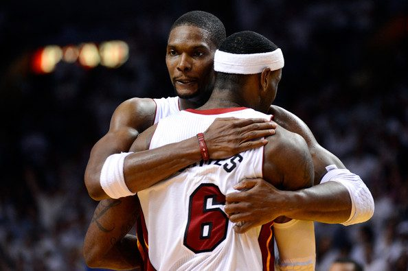Chris Bosh and LeBron James