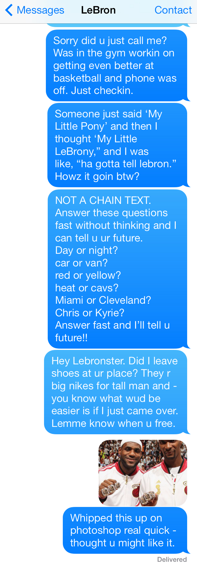 Media: Chris Bosh's Text Messages to LeBron About Next Move