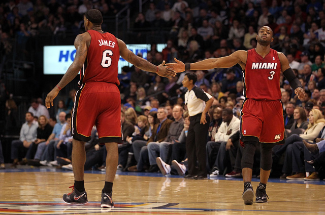 LeBron James and Dwyane Wade Miami Heat