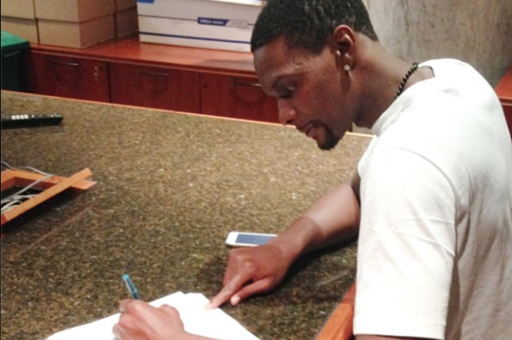 Video: Chris Bosh Talks Resigning with the Heat and Almost Leaving