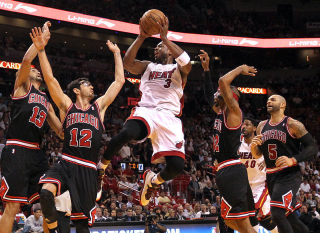 Dwyane Wade versus the Chicago Bulls