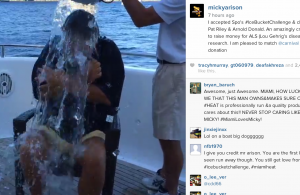 Video: Micky Arison and Coach Spo Accept ALS Ice Bucket Challenge
