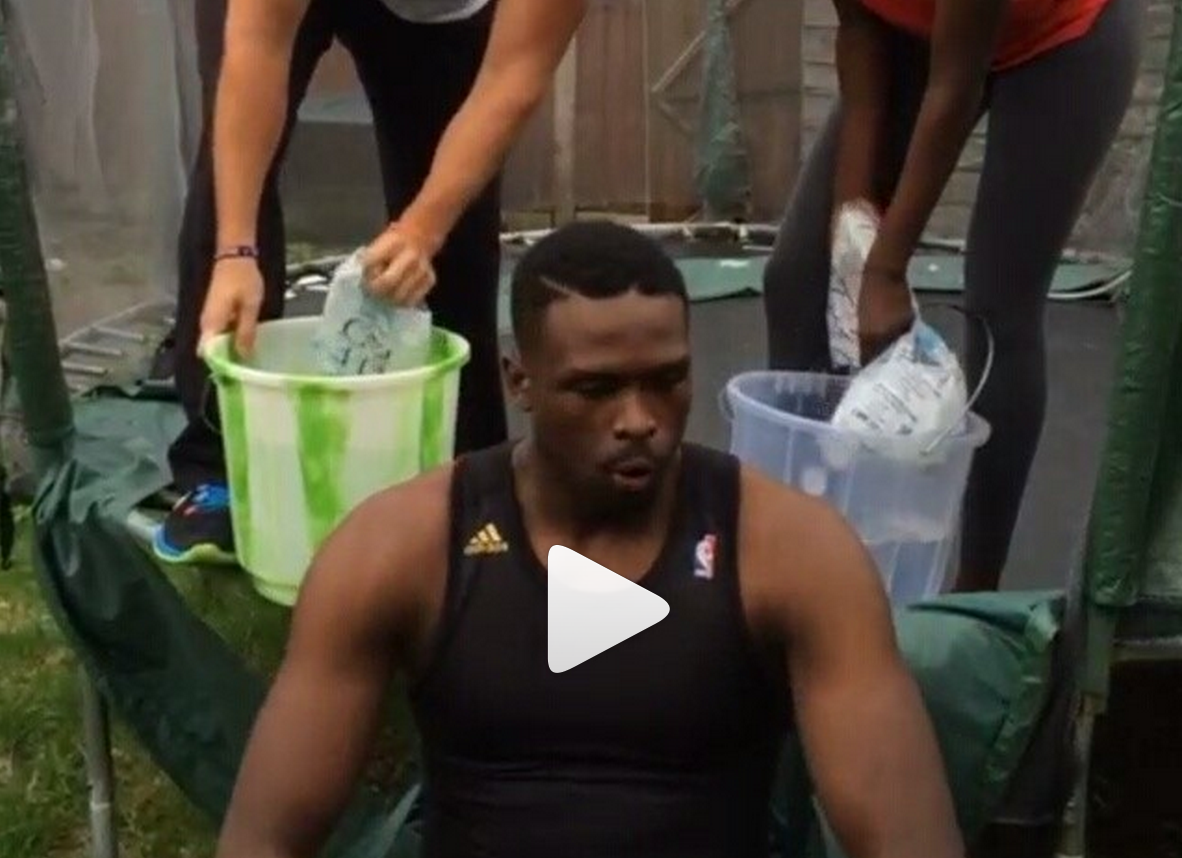 Video: Luol Deng and Pat Riley Accept Ice Bucket Challenge