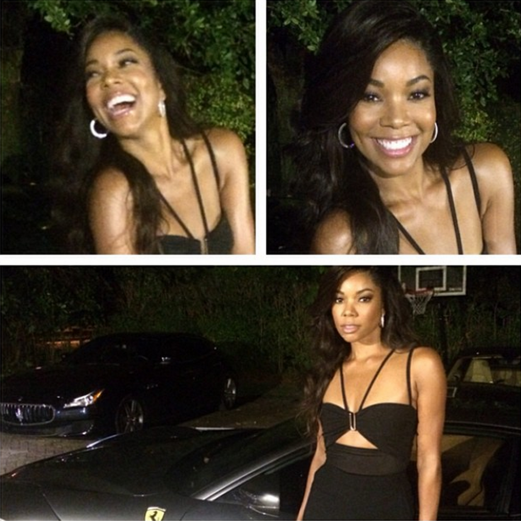 Gabrielle Union before the rehearsal dinner