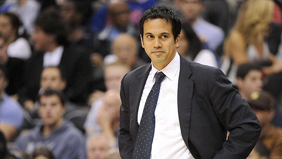Erik Spoelstra Coaching the Miami Heat