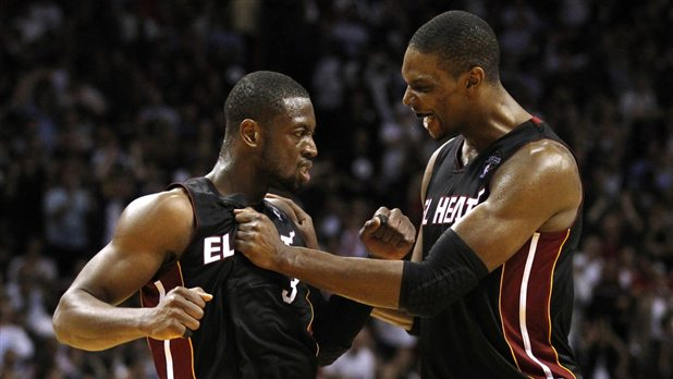 The Big Two - Dwyane Wade and Chris Bosh of the Miami Heat