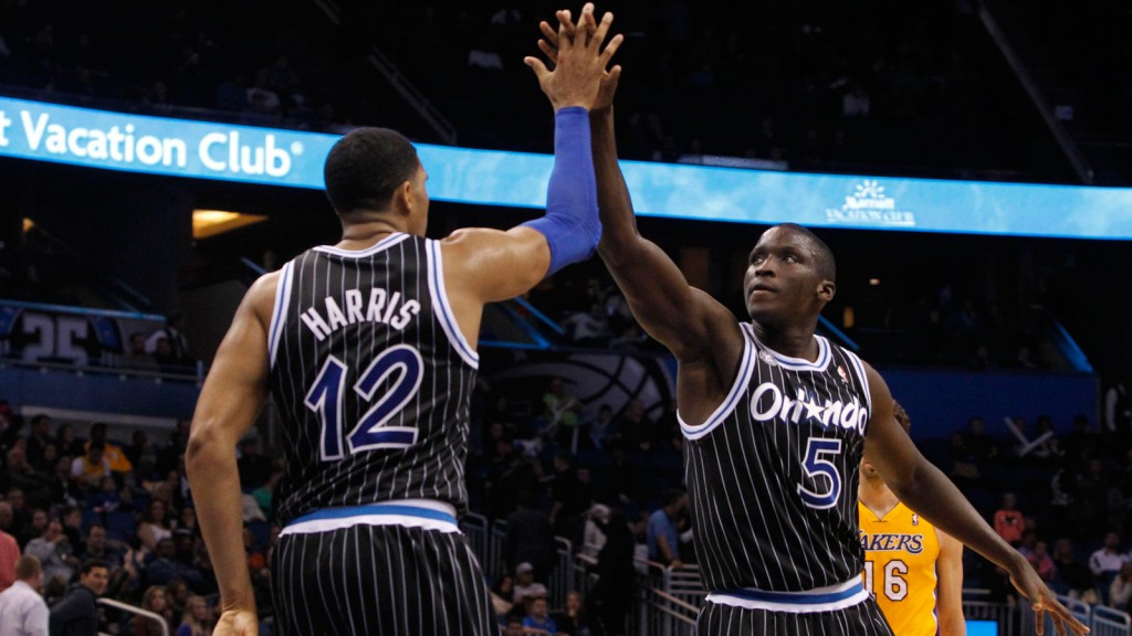Victor Oladipo and Tobais Harris Orlando Magic
