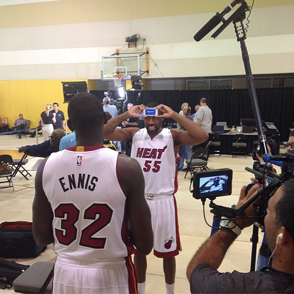 James Ennis and Reggie Williams at Heat Media Day