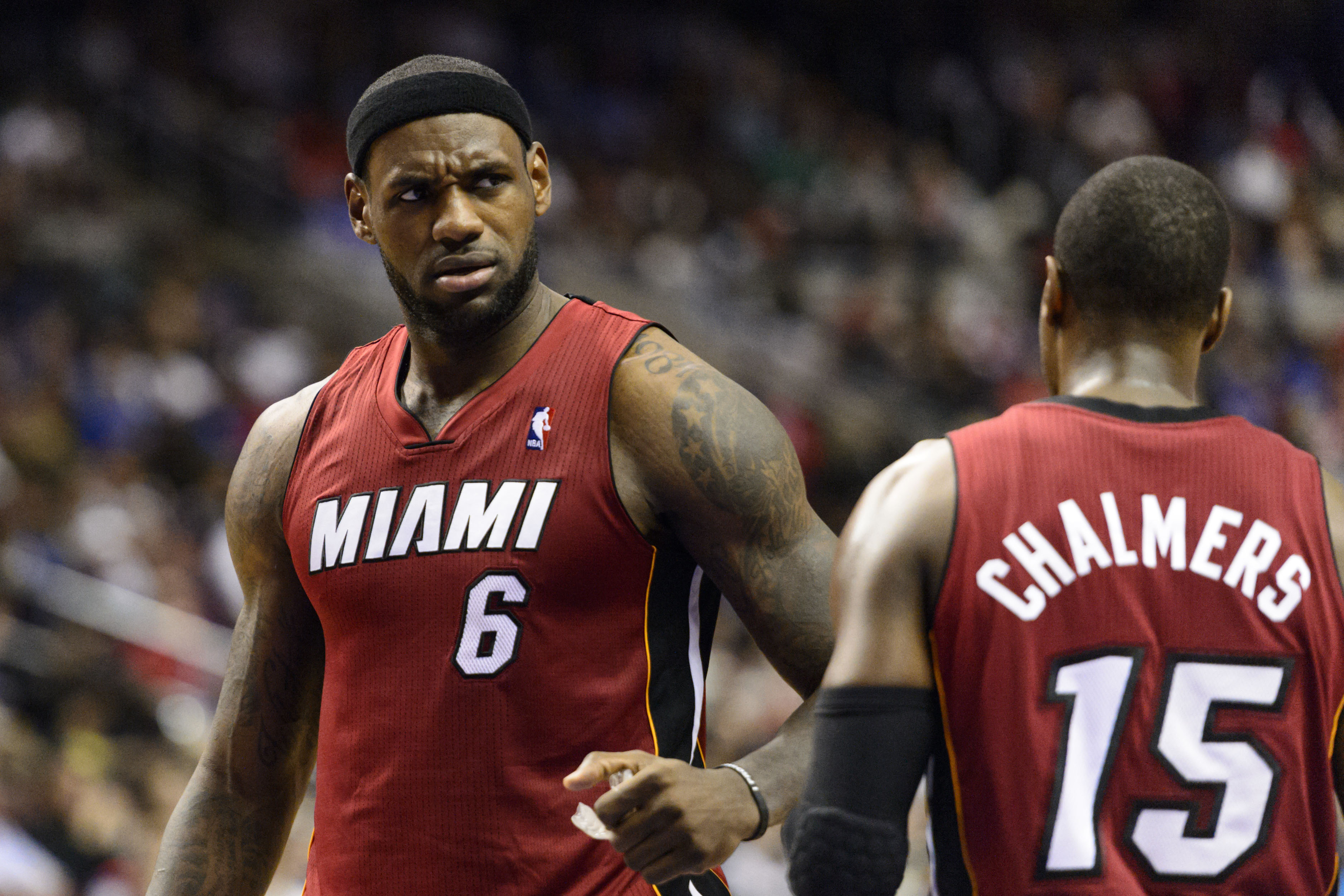 LeBron mad at Mario Chalmers