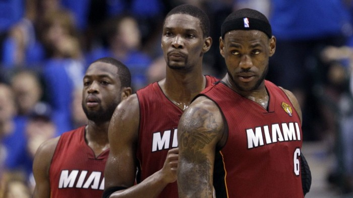 Dwyane Wade, Chris Bosh, and LeBron James