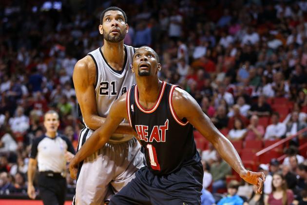 Chris Bosh versus Tim Duncan