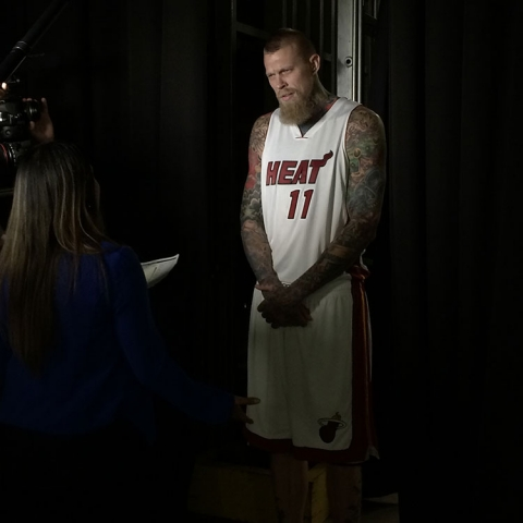 Chris Birdman Andersen on Heat Media Day