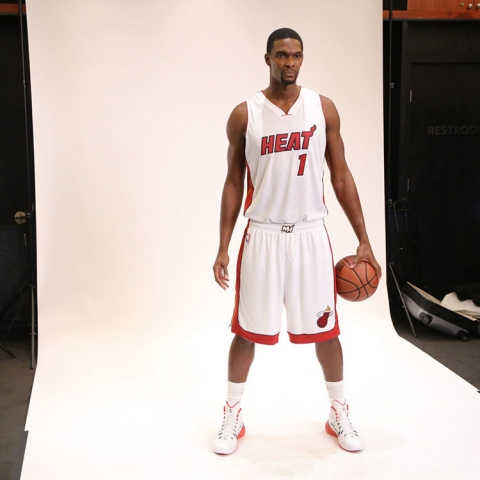 Chris Bosh at Heat Media Day