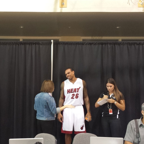 Shannon Brown on Heat Media Day