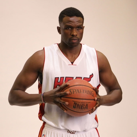 Luol Deng Heat Media Day