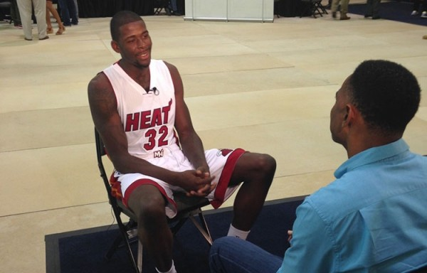 James Ennis on Heat Media Day