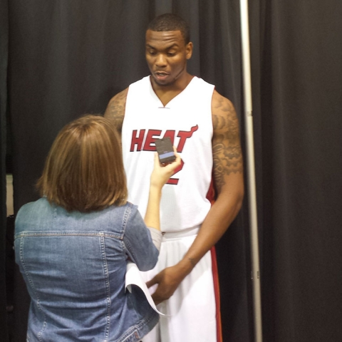 Shawn Jones at Heat Media Day