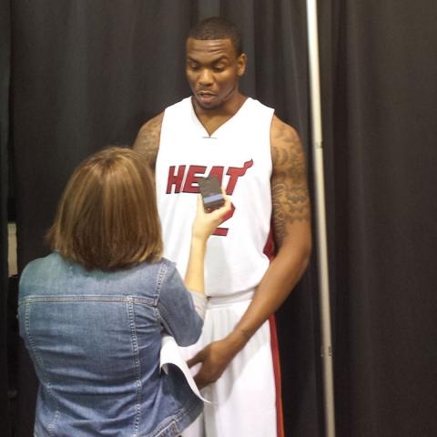 Shawn Jones at Heat Media Day