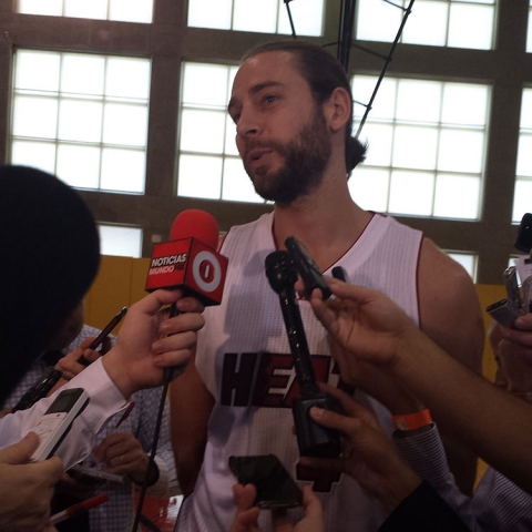 Josh McRoberts Heat Media Day