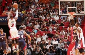 Dwyane Wade Hawks vs. Heat