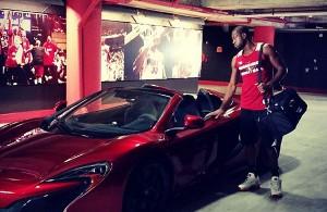 Dwyane Wade with exotic car