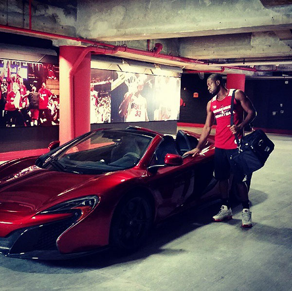 Dwyane Wade with exotic car