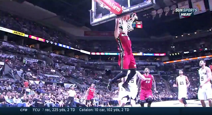 Video: Tyler Johnson Rises for the Alley-oop from Mario Chalmers
