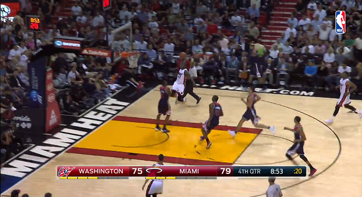 James Ennis Poster Over Rasual Butler