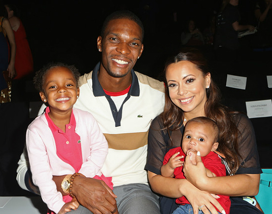 Chris Bosh and his wife