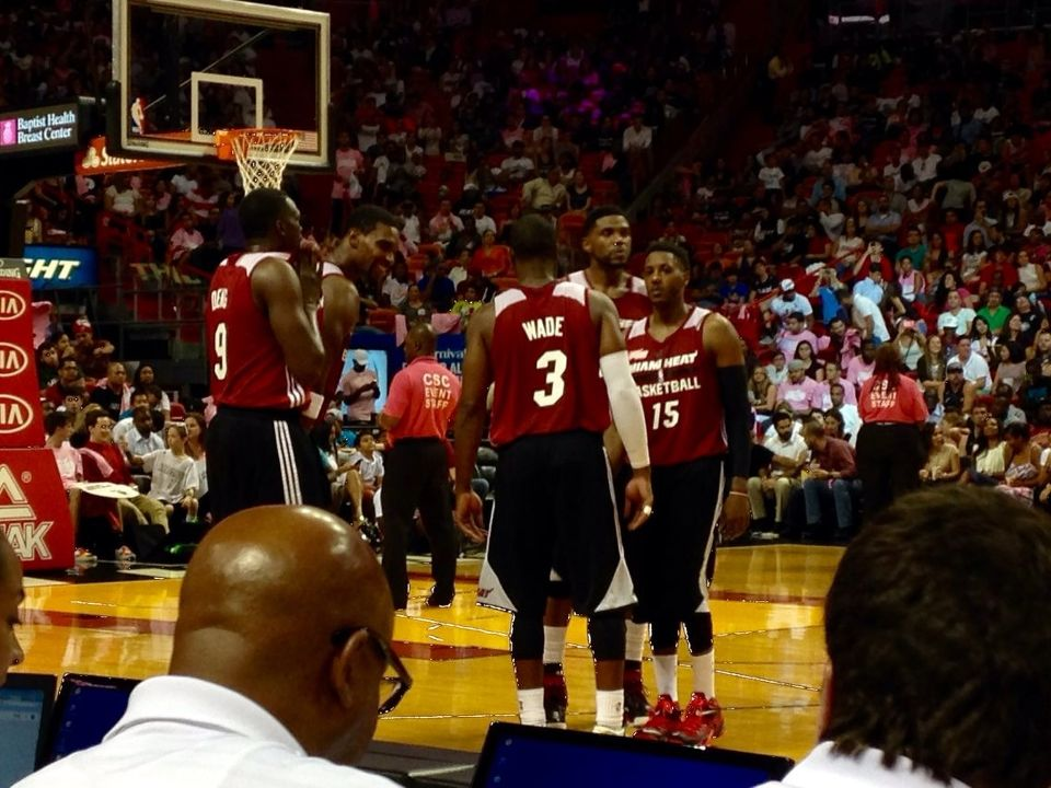 Miami Heat Red, White, and Pink Scrimmage