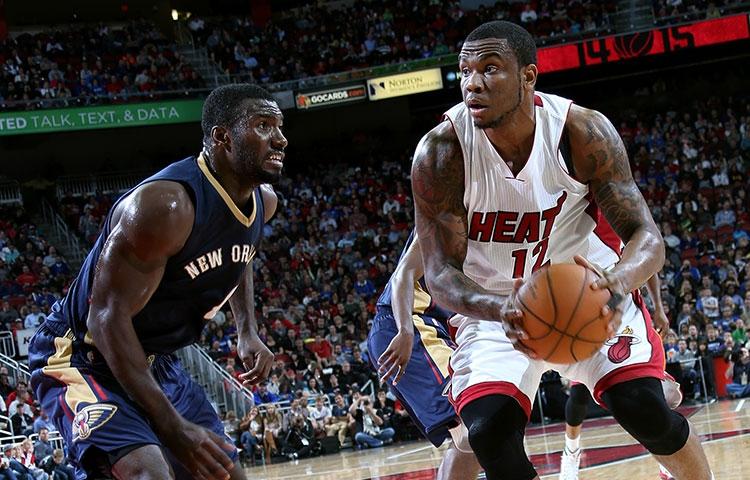 Shawn Jones of the Miami Heat