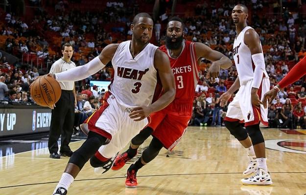 Dwyane Wade against Houston Rockets