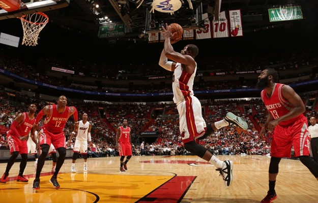 Dwyane Wade against the Rockets