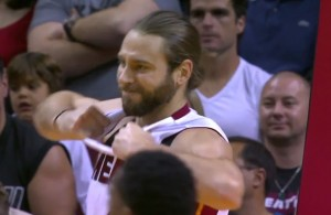 Josh McRoberts Rips His Own Jersey