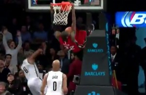 James Ennis Dunks Against the Nets