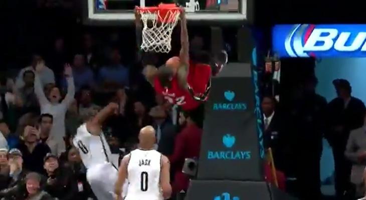James Ennis Dunks Against the Nets